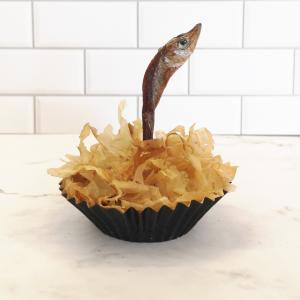 The Purrrthday Fish Cake